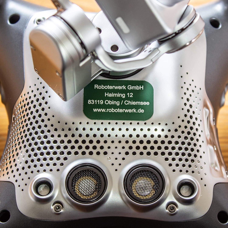 Roboterwerk Plaque de signalisation de dro/ïde en Verre Aluminium avec Carte Pilote Titane Plaque de Plaque dimmatriculation // Plaque dimmatriculation Plaque de Pilote