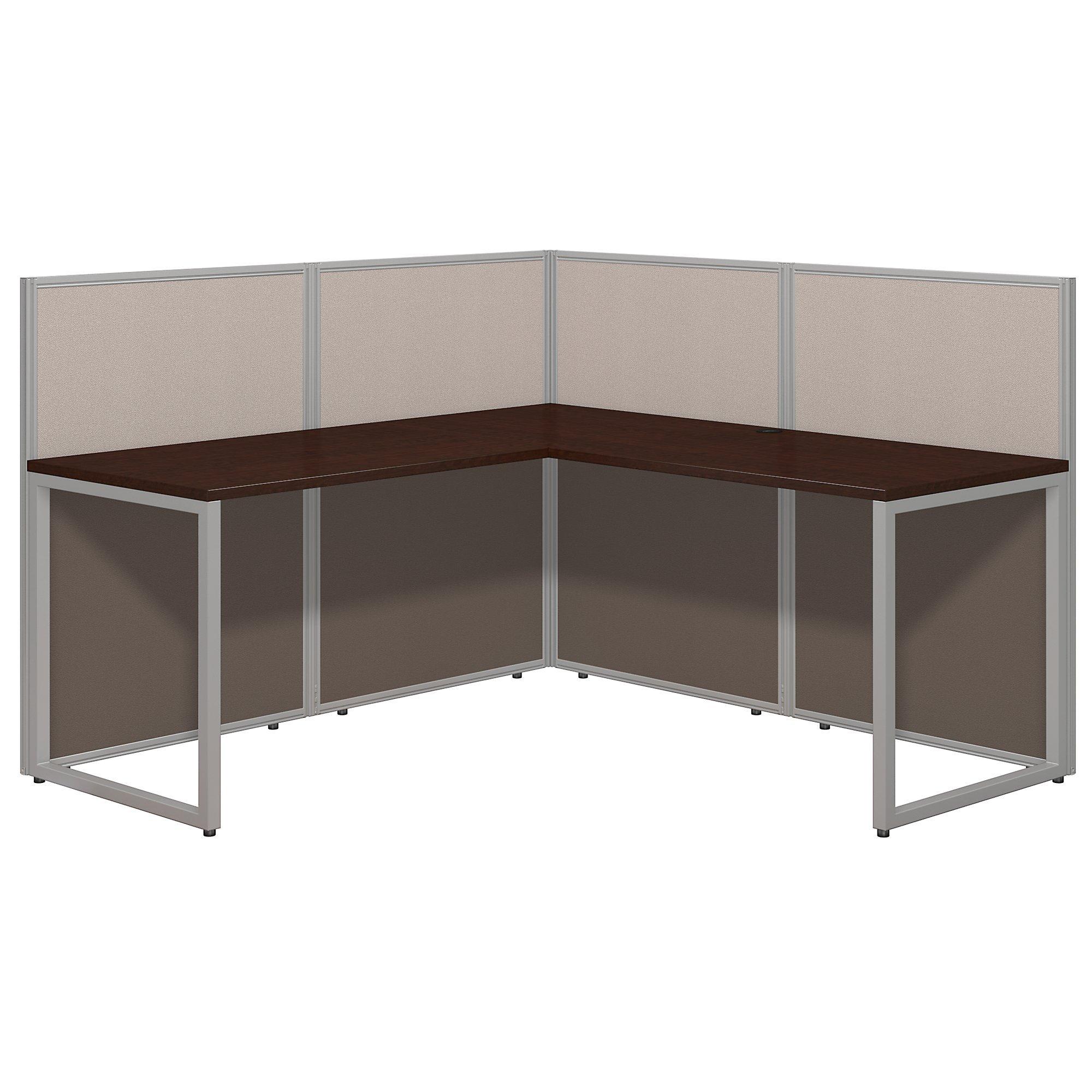 Bush Business Furniture Easy Office 60W L Shaped Desk Open Office in Mocha Cherry by Bush Business Furniture (Image #1)