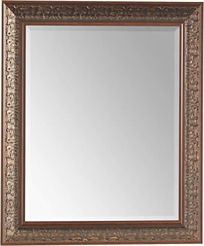 Head West Bronze Ornate Mirror, 28-1 2 by 34-1 2-Inch