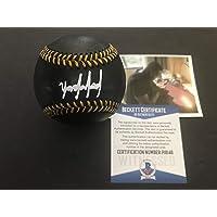 $119 » Yordan Alvarez Houston Astros BECKETT WITNESS COA Autographed Signed Official Major League BLACK Baseball A