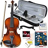 Bunnel Pupil Violin Outfit 4/4 Full Size By Kennedy Violins - Carrying Case and Accessories Included - Solid Maple Wood…