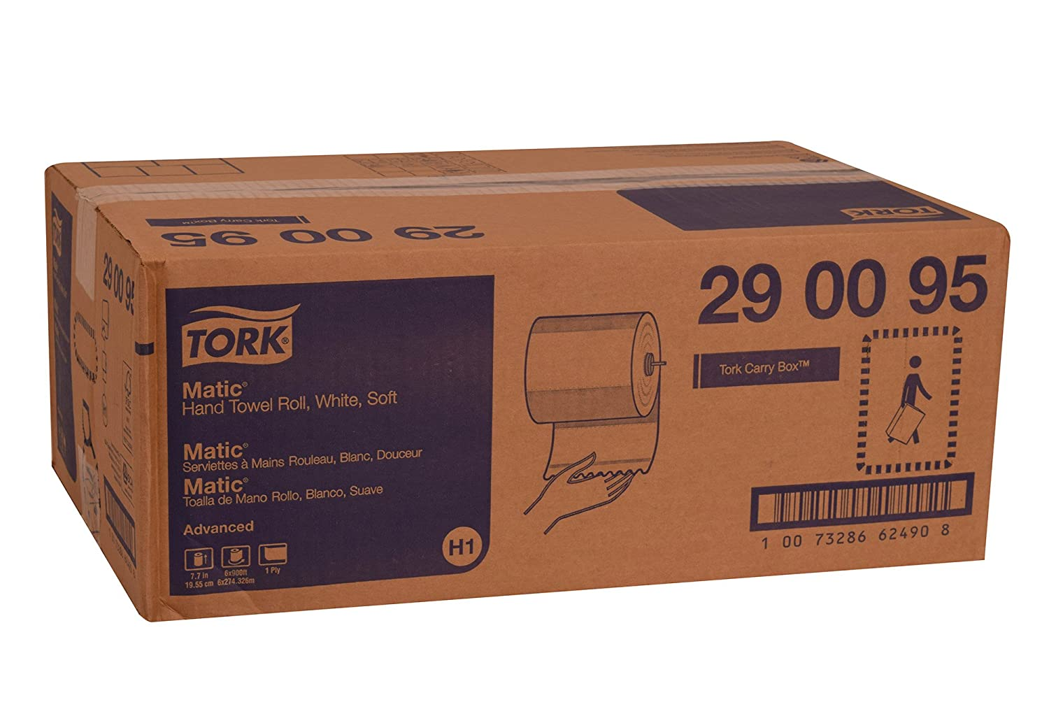 Tork 290095 avanzada suave Single-ply mano rollo toalla, blanco (Pack de 6): Amazon.es: Industria, empresas y ciencia