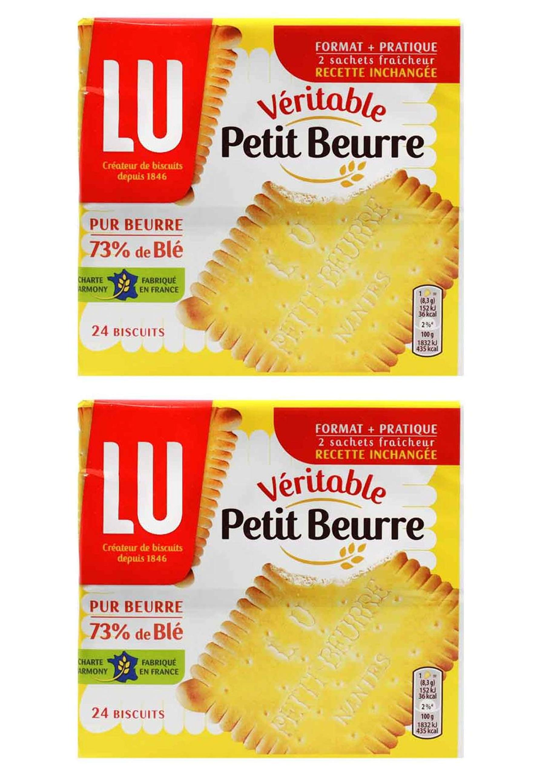 From France Lu Petit Beurre Biscuits 7 oz Pack of 2 by LU