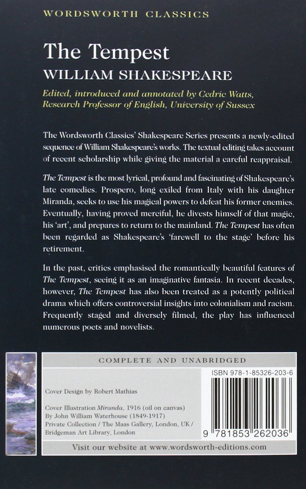 the tempest wordsworth classics amazon co uk william the tempest wordsworth classics amazon co uk william shakespeare cedric watts dr keith carabine 9781853262036 books