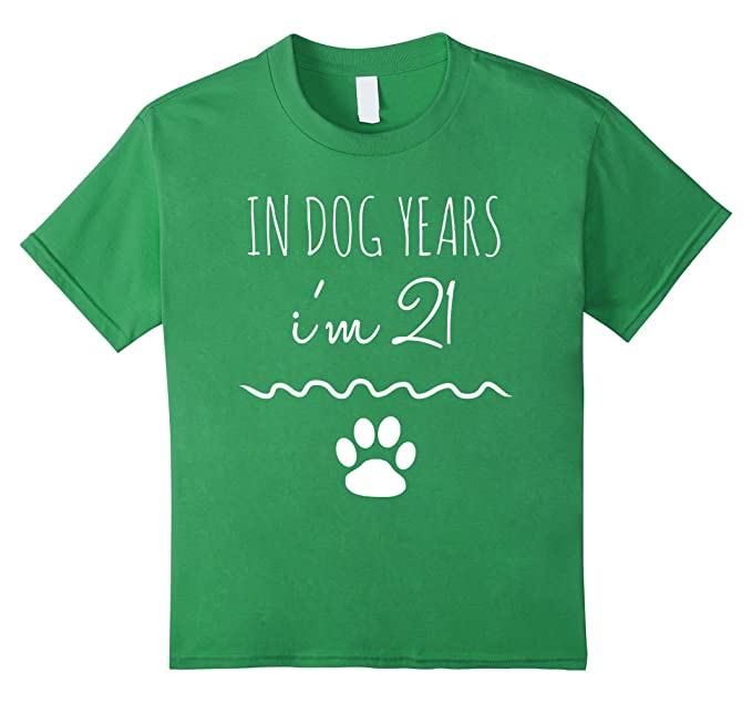 Kids 3rd Birthday Shirt In Dog Years Im 21 Funny 3 Year Old Tee