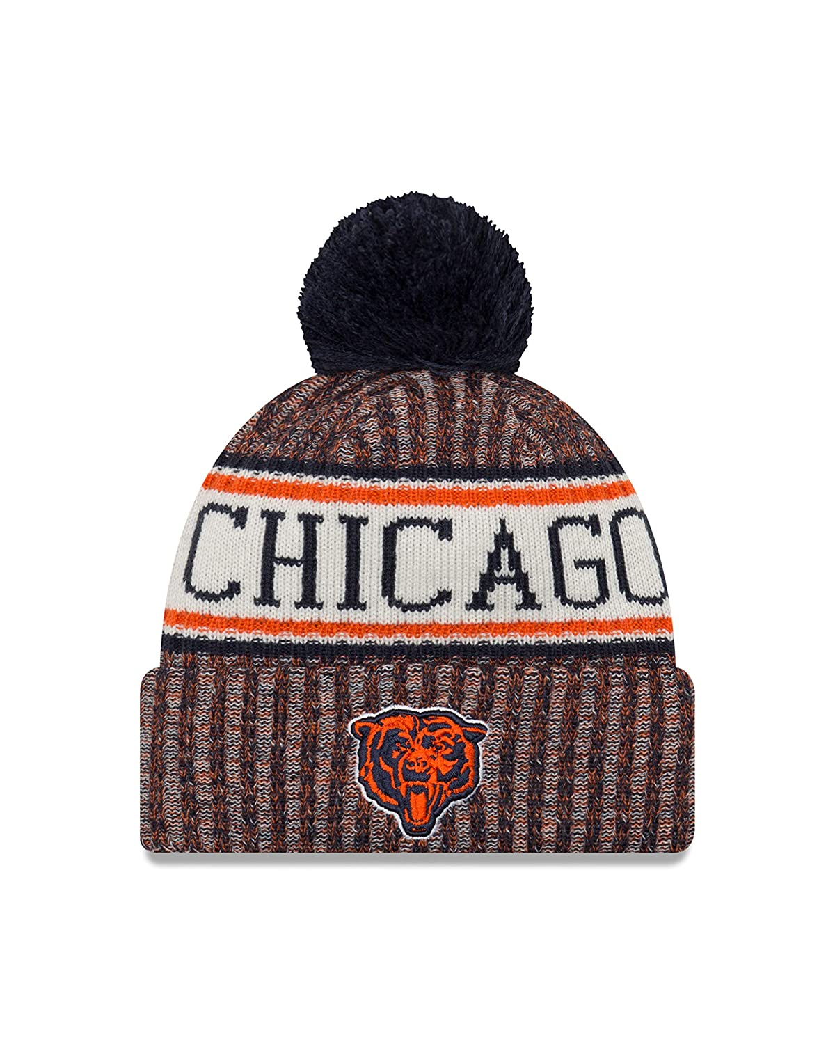 1986f015abc Amazon.com   New Era Chicago Bears On Field 2018 Throwback Logo Sport Knit  Hat   Sports   Outdoors
