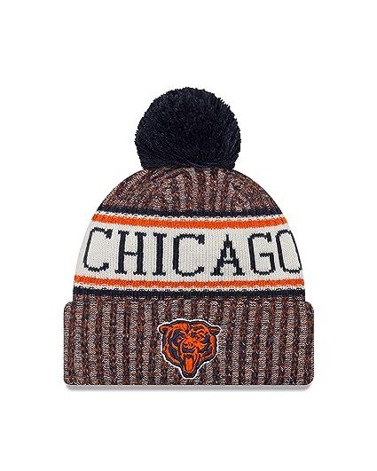 best service 2da93 4d633 sweden new era chicago bears on field 2018 throwback logo sport knit hat  8a49a de142