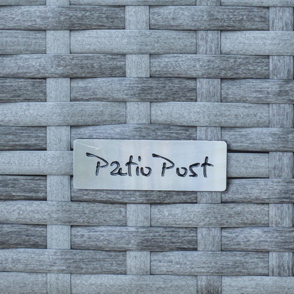 Storage Bin Deck Box PE Wicker Outdoor Patio Cushion Container Garden Furniture, Grey by PatioPost (Image #8)