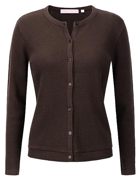 8f7d82e84b Regna X Love Coated Women s Long Sleeve Spring Cardigan Sweater(4 ...