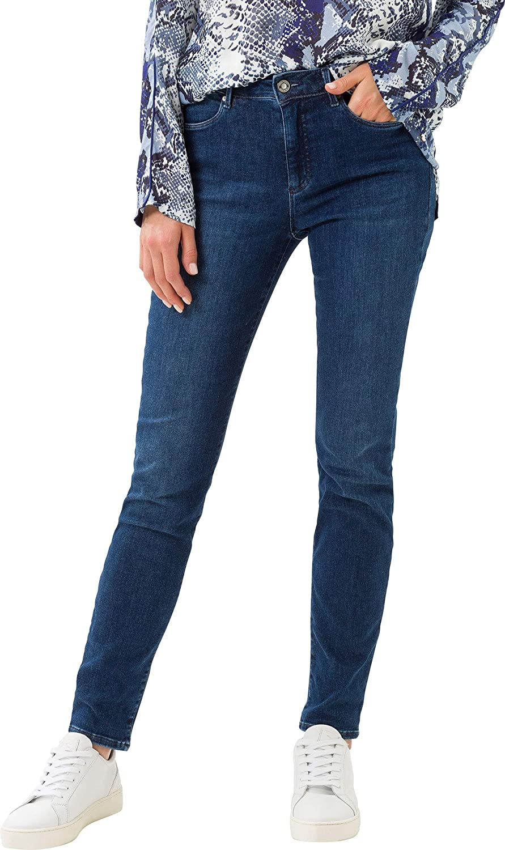 BRAX Style Shakira Sensation Five Pocket Skinny Sportiv Jeans Femme Couleur : Bleu Usé