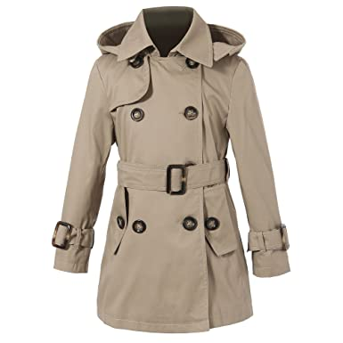Amazon.com: Richie House Girls' Classic Hooded Trenchcoat Sizes 4 ...
