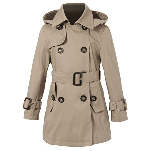 a669ceff78d09 Amazon.com  Richie House Girls  Classic Hooded Trenchcoat RH0934 ...