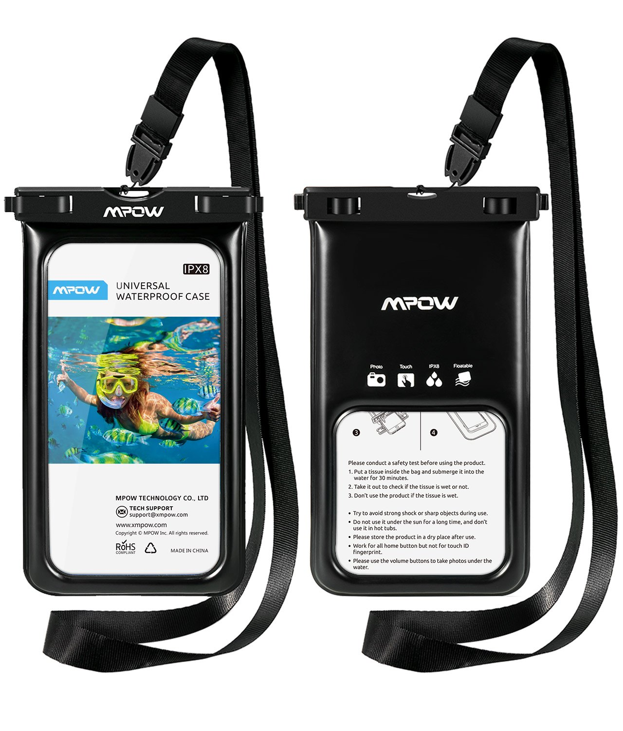 separation shoes 44922 d1fdc Shoptagr | Waterproof Case, Mpow Floating Dry Bag Cellphone Pouch ...
