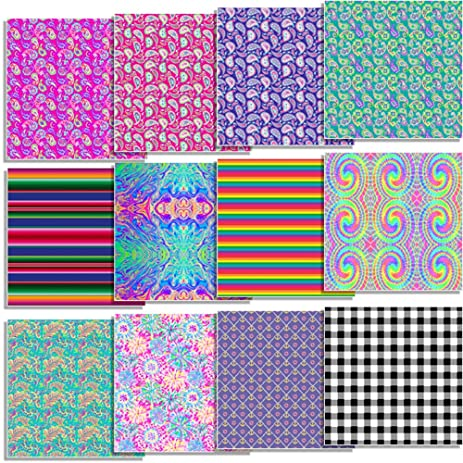 Amazon Siser Easyweed Patterned Heat Transfer Vinyl Bundle 40 Inspiration Patterned Heat Transfer Vinyl