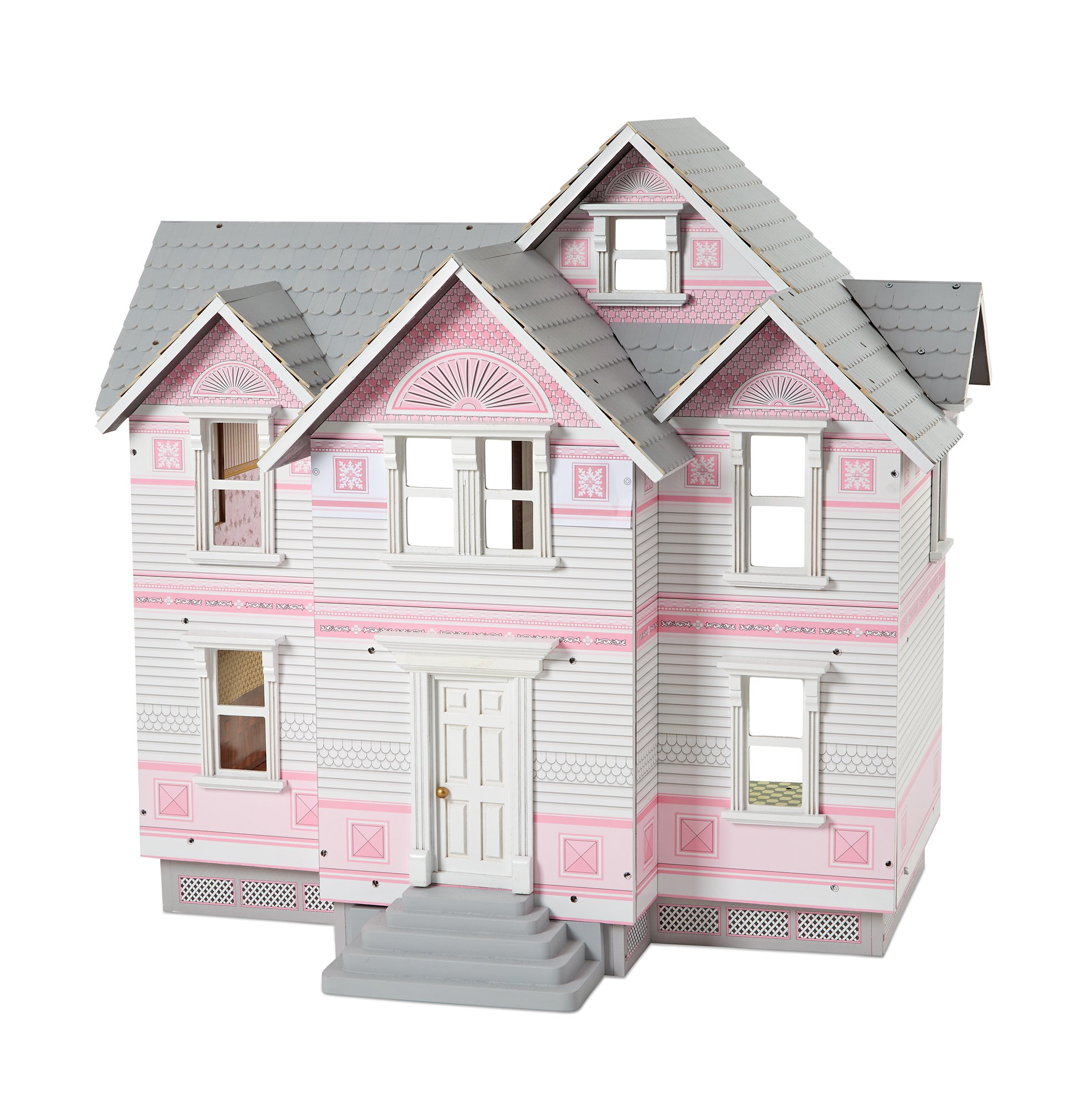 Melissa & Doug Victorian Dollhouse, Multicolor