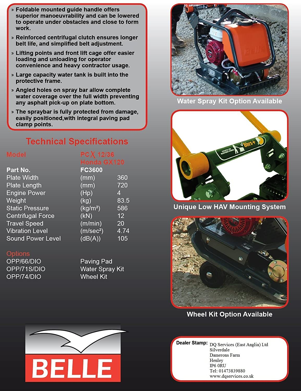 Belle PCX 12/36 Combinación compactadora Compactor: Amazon.es: Bricolaje y herramientas