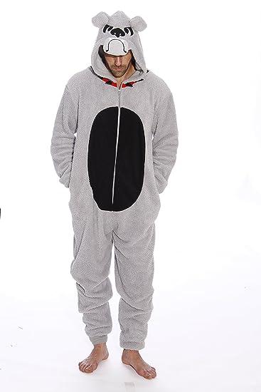 6427-L-BullDog #FollowMe Adult Onesie / Men's Pajamas