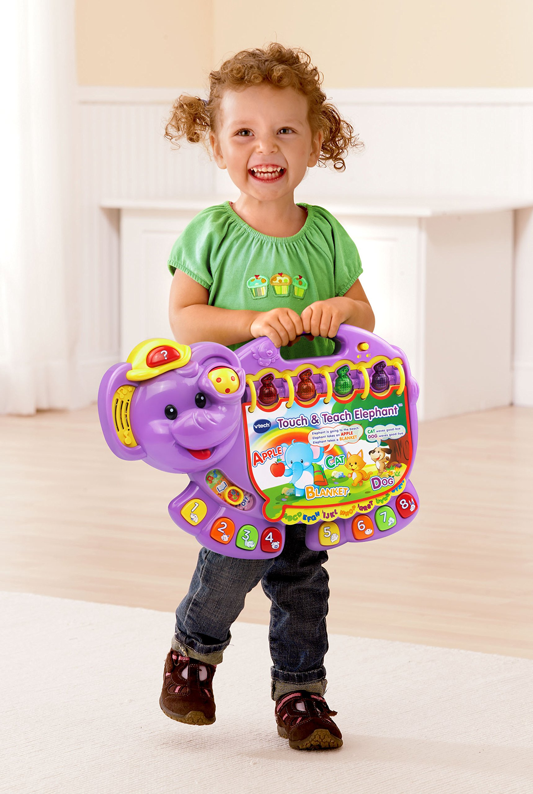 VTech Touch and Teach Elephant, Purple (Amazon Exclusive) by VTech (Image #4)
