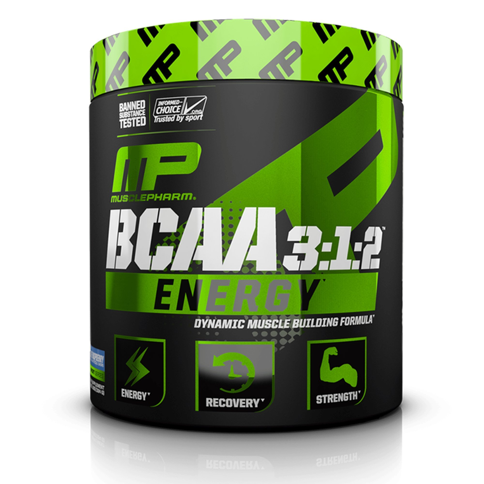 MusclePharm Amino Energy, 6 Grams of BCAA Powder, with Caffeine and Green Tea, BCAA Energy for Pre Workout or Anytime Energy, Blue Raspberry, 30 Servings by Muscle Pharm (Image #1)
