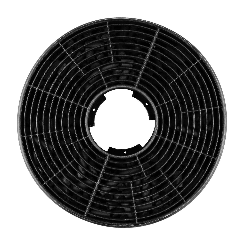 Klarstein Lorea 90 campana extractora con filtro de carbón activo - Extractor de humos, 280 m³/h, Vidrio frontal, Circulación de aire, Control táctil, ...