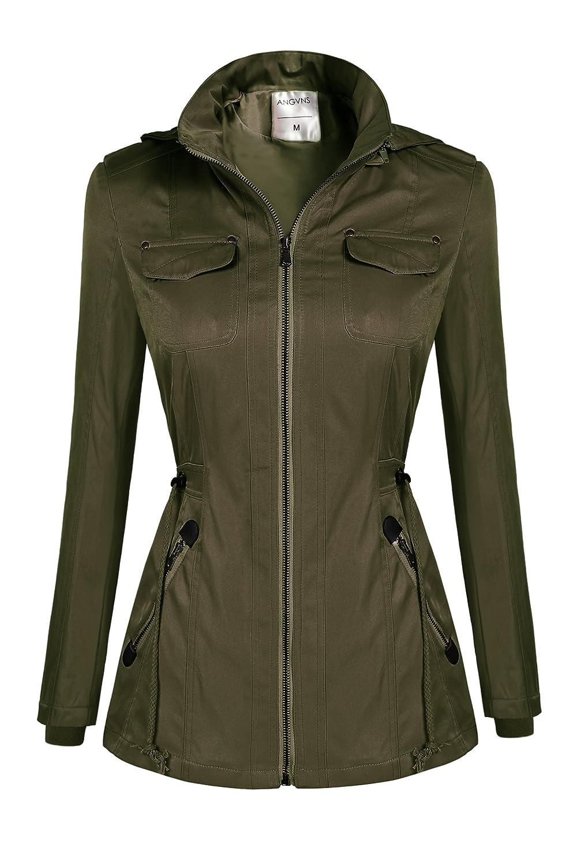 ZEARO Damen Casual Kapuzen Trenchcoat Winterjacke Jacke Mantel Jacket Outwear Oberteil
