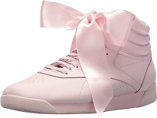 Reebok Women's FS HI Satin Bow Sneaker