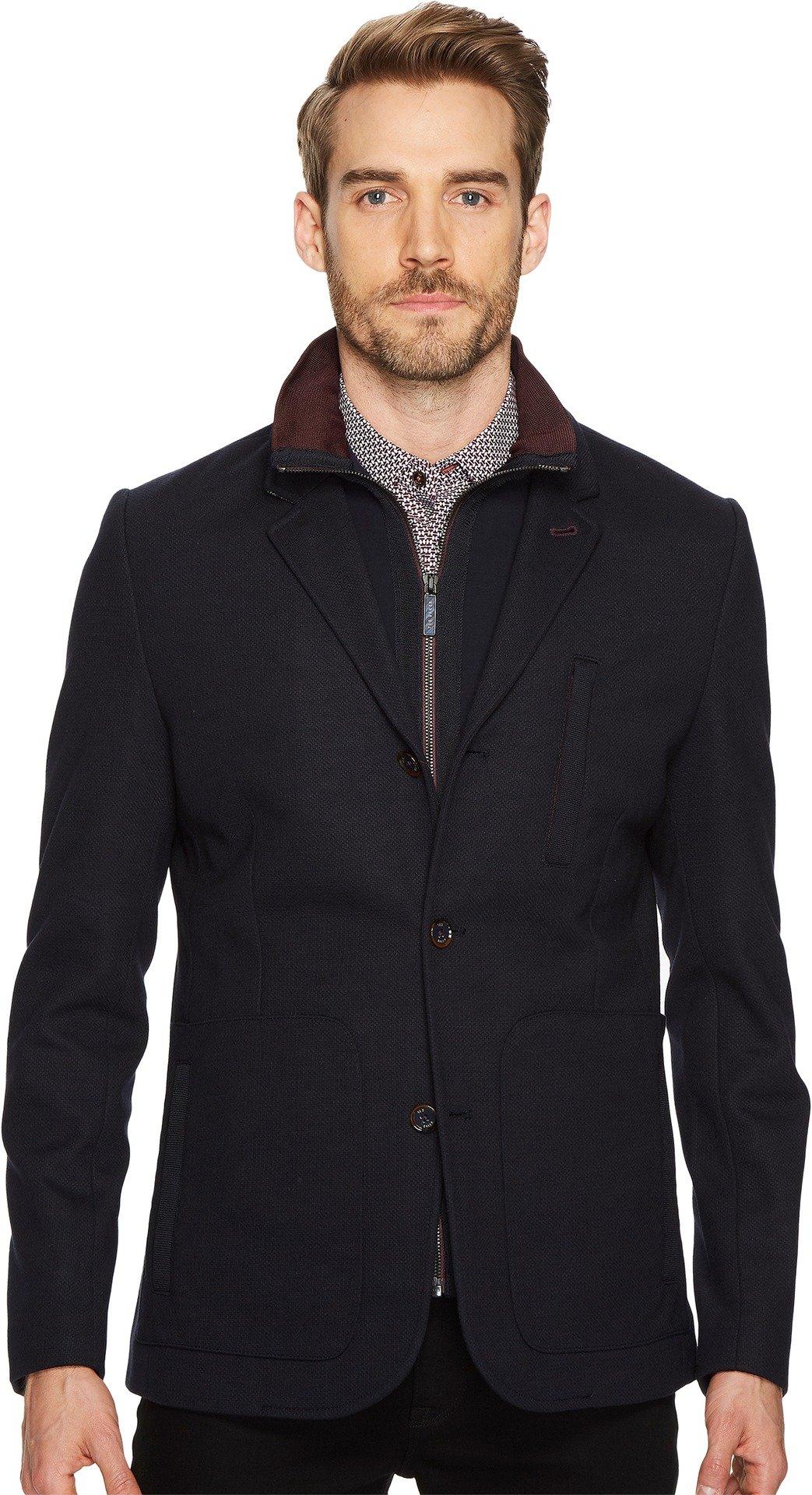 Ted Baker Men's Roy Jersey Blazer w/Inner Pad Jacket Navy Large
