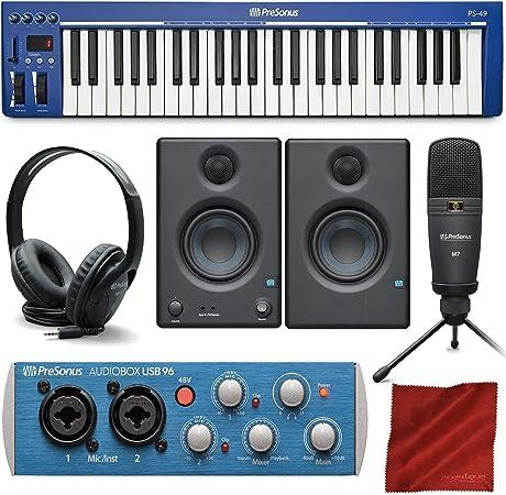 PreSonus PS49 Teclado MIDI USB 2.0 con interfaz de grabación ...