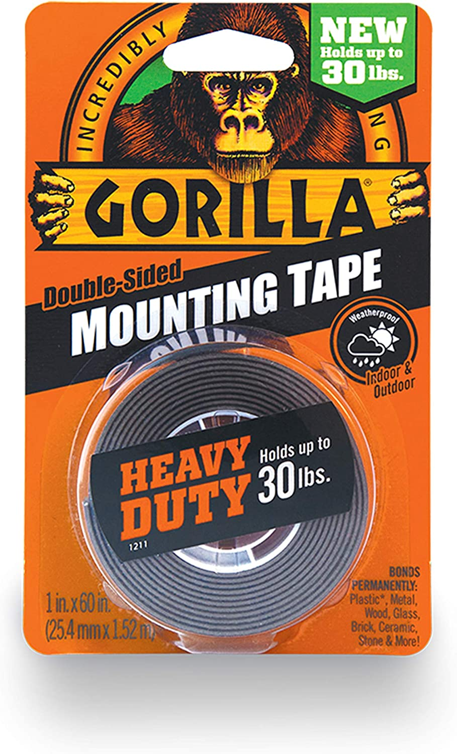 NEW  Gorilla Double Sided Mounting Tape   *FREE SHIPPING*