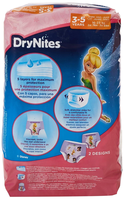 Huggies DryNites Lot de 6/x/10/sous-v/êtements de nuits absorbants pour fille 3-5/ans