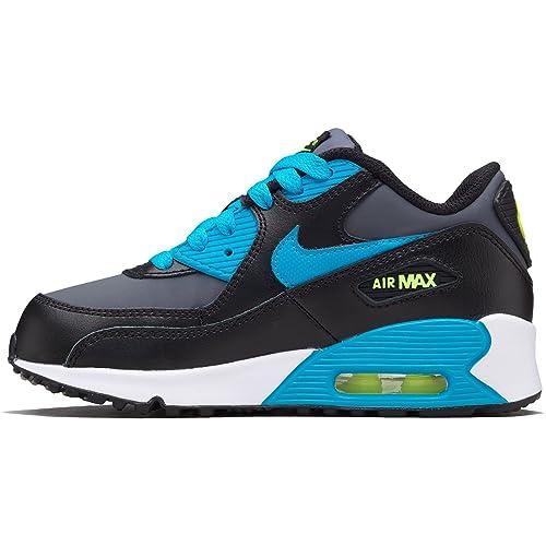 preschool nike air max 2017 Buy Nike Preschool Air Max 90 LTR Black/Blue Lagoon-Dark Grey ...