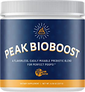 Peak Biome: Official Peak BioBoost - Prebiotic Fiber Supplement for Amazing Poops - 30 Servings, One Month Supply - Flavorless and Dissolves Easily - No Gluten, Soy or Dairy