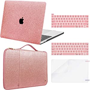 MacBook Pro 13 inch Case 2020 2019 2018 2017 2016 Release A2338 M1 A2289 A2251 A2159 A1989 A1706 A1708, Plastic Hard Shell Case Compatible with MacBook Pro 13 inch + Laptop Sleeve + Keyboard Cover