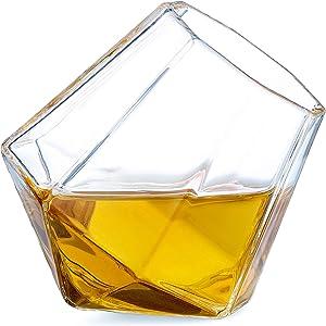Dragon Glassware Diamond Shot Glasses, 2-Ounce, Set of 4