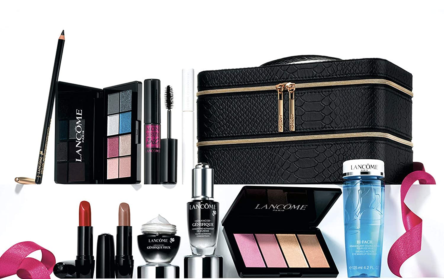 49e108b39ff Amazon.com : Lancome 2018 Holiday Beauty Box in GLAM Collection, 10 Full  Size Best Sellers Favorites Set : Beauty