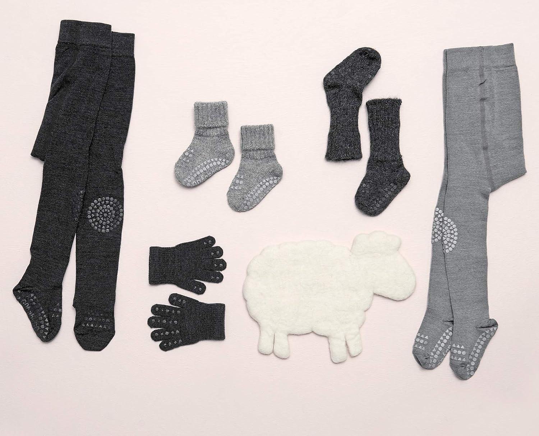 Superwasch Wolle 74-80cm ABS Non-slip Unterst/ützung F/ür Aktive Kinder Im Krabbelalter GoBabyGo Original Rutschfeste Baby Krabbel Strumpfhose 6-12M   Dark Grey Melange