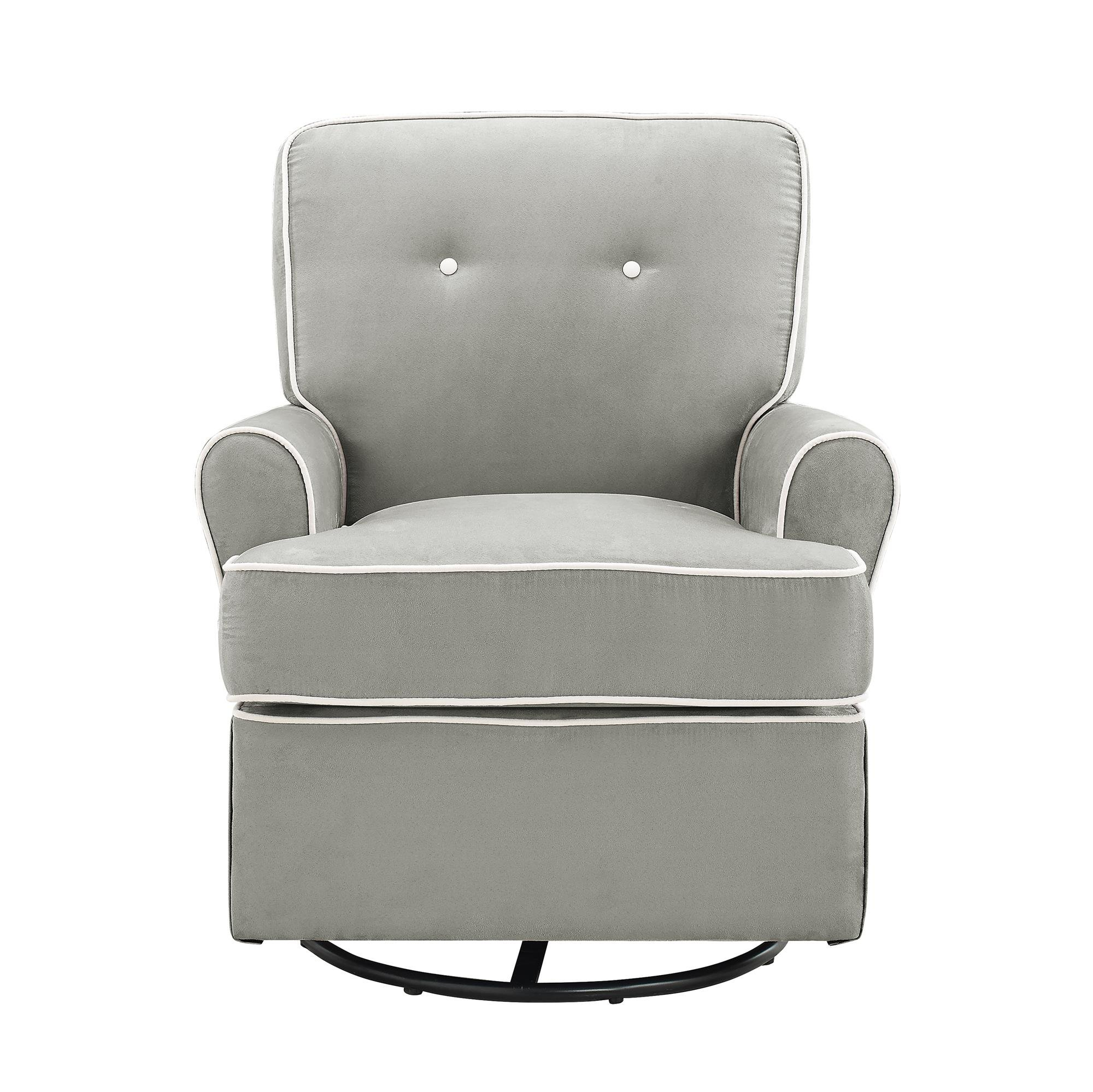 Baby Relax The Tinsley Nursery Swivel Glider Chair, Grey by Baby Relax