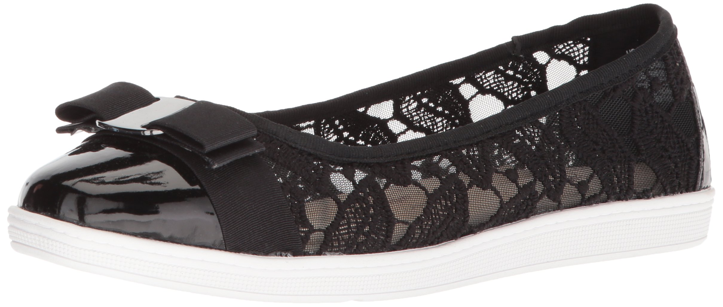Soft Style by Hush Puppies Women's Fagan Loafer, Black Macrame, 12.0 W US