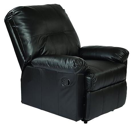 Remarkable Office Star Kensington Bonded Leather Recliner Black Pdpeps Interior Chair Design Pdpepsorg
