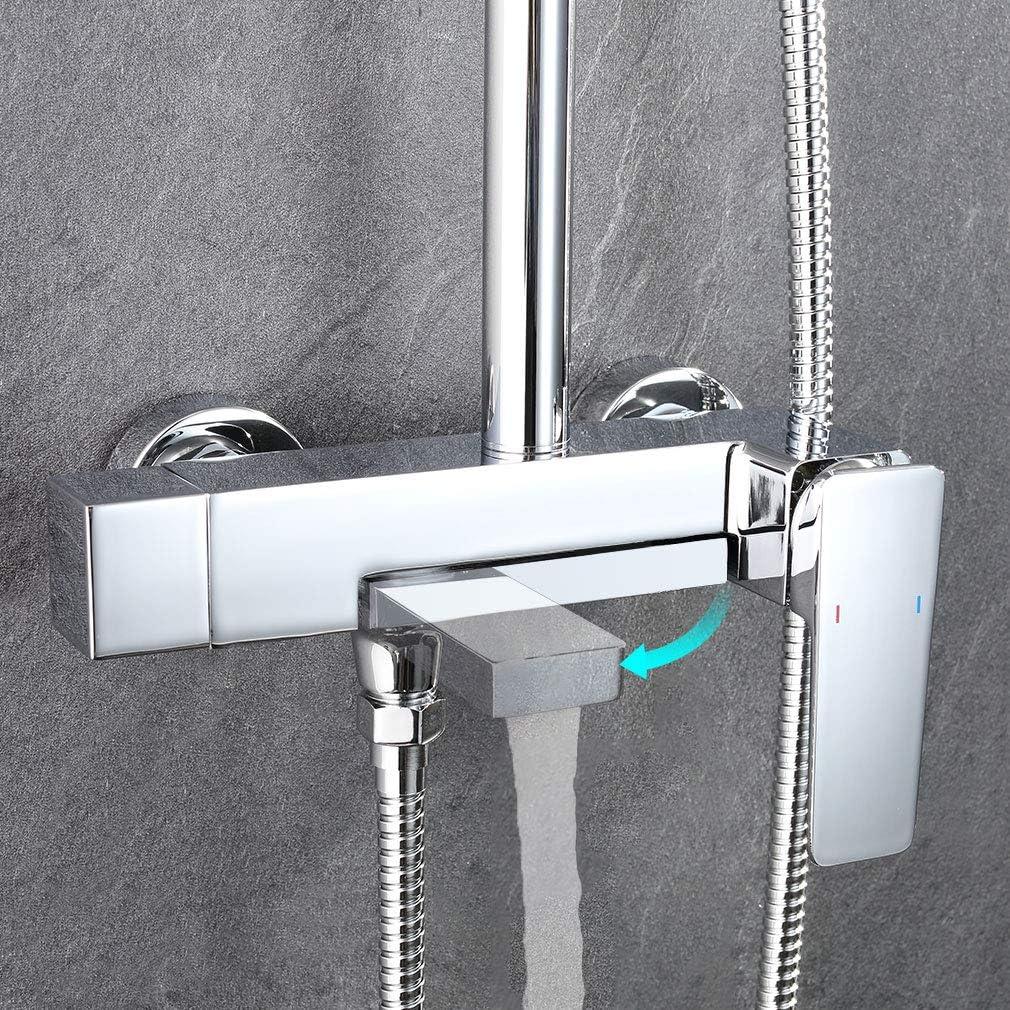 Faulkatze - Conjunto de ducha con grifo monomando (latón, ducha de ...