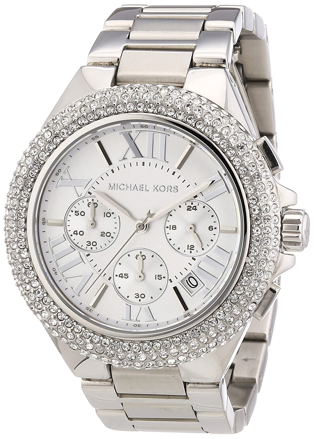 Michael Kors MK5634 Women s Chronograph Camille Stainless Steel Bracelet Watch