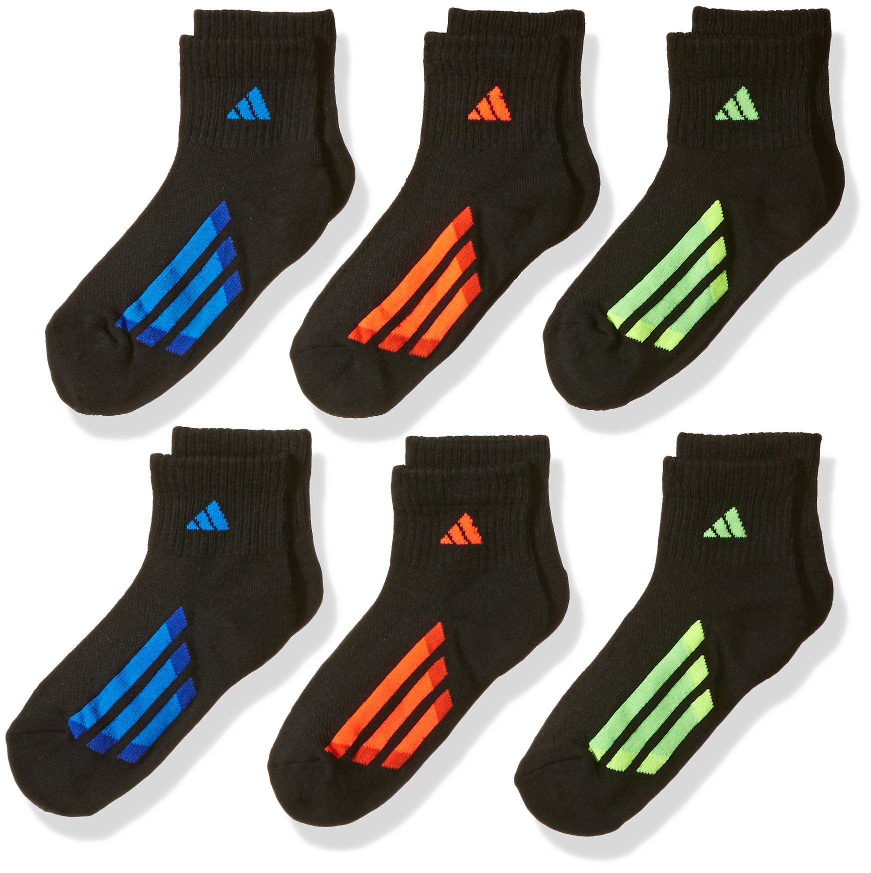 adidas Boys / Youth Cushioned Quarter Socks (6-Pack)
