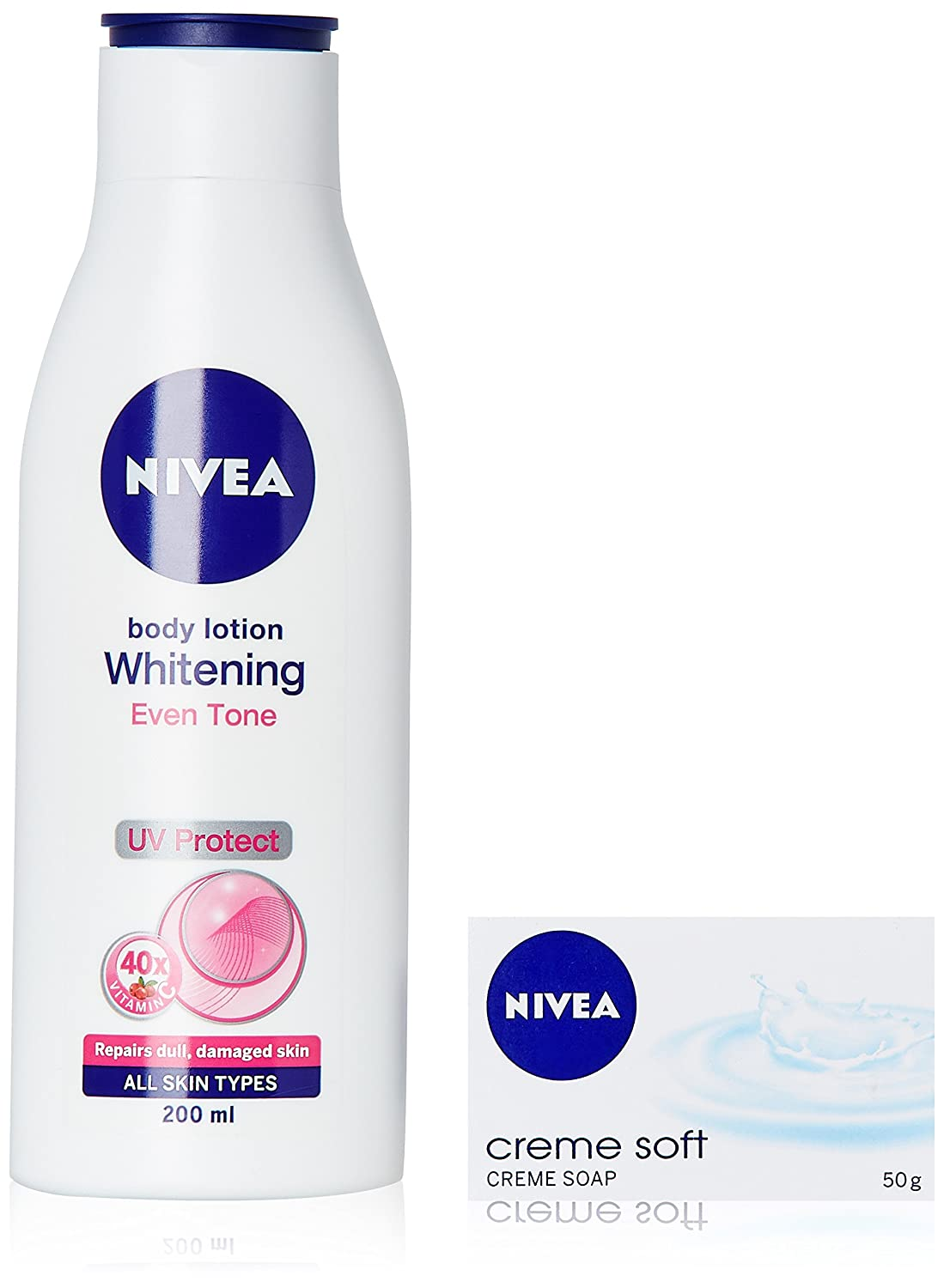 Buy Nivea Whitening Even Tone 200ml With Creme Soap 3x50g Online Extra White Firming Lotion Spf15 400 Ml At Low Prices In India