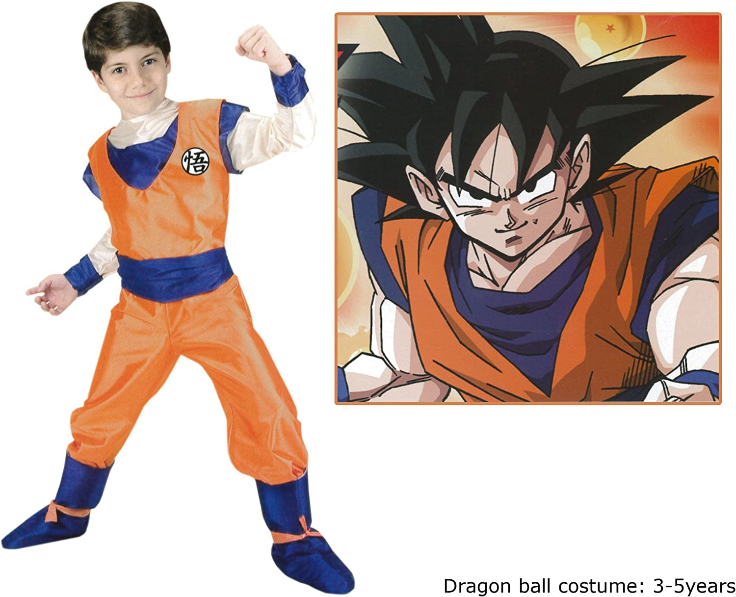 Disfraz de Goku™ Dragon Ball Z™, para niño - 3-4 años: Amazon.es ...