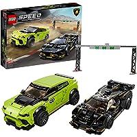 LEGO Speed Champions 76899 Lamborghini Urus ST-X and Lamborghini Huracán Super Trofeo EVO Building Kit (663 Pieces)