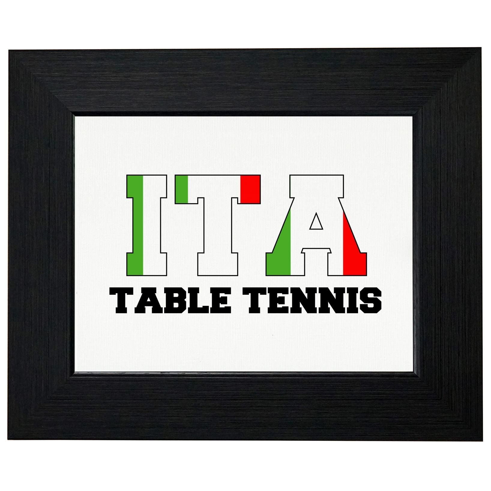 Italy Table Tennis - Olympic Games - Rio - Flag Framed Print Poster Wall or Desk Mount Options