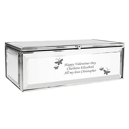Personalised Mirrored Jewellery Box With Butterflies