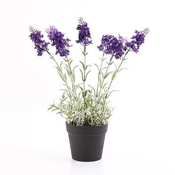 Amazon De Artplants Kunstlicher Lavendel Im Topf Dunkelviolett 29