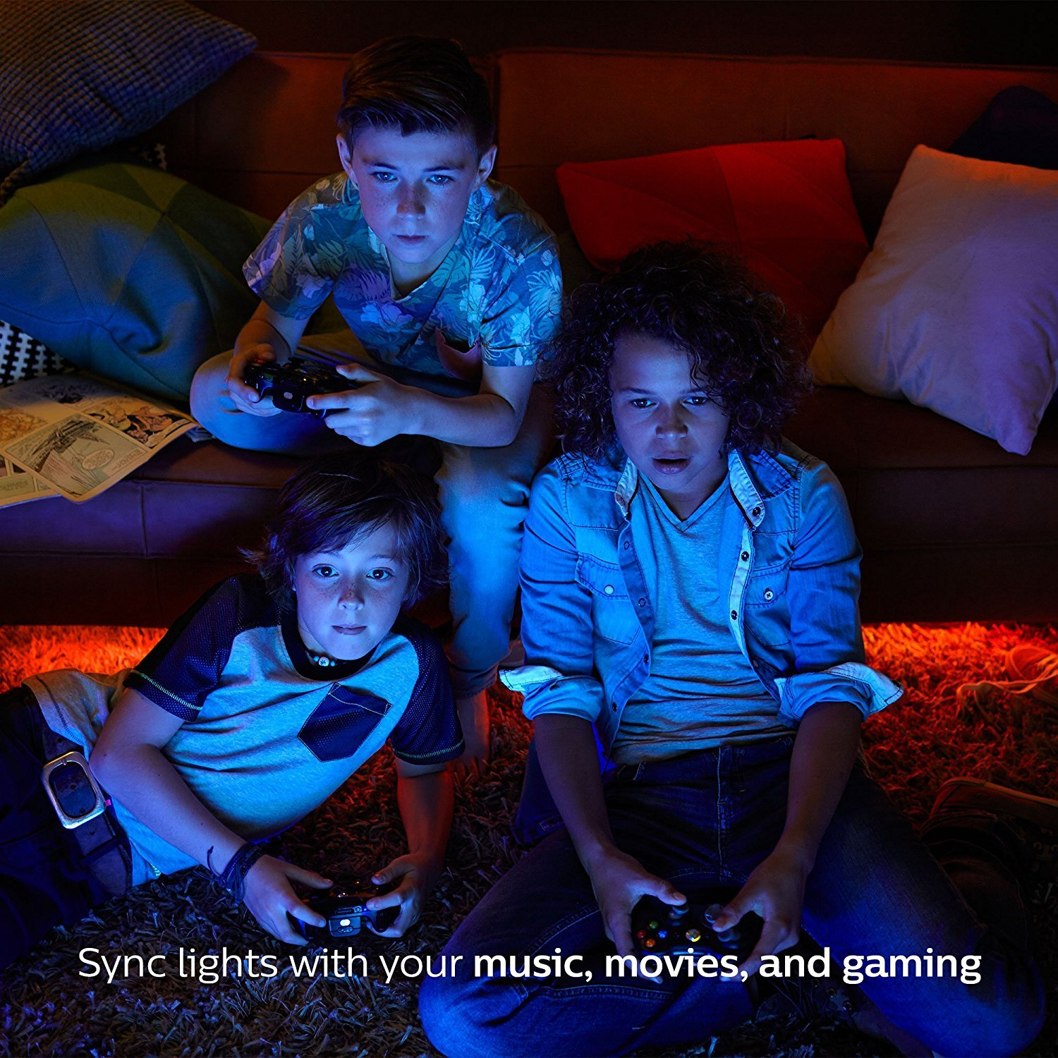 Philips Hue 464479 60W Equivalent White and Color Ambiance A19 Starter Kit, 3rd Generation, Works with Amazon Alexa by Philips (Image #7)