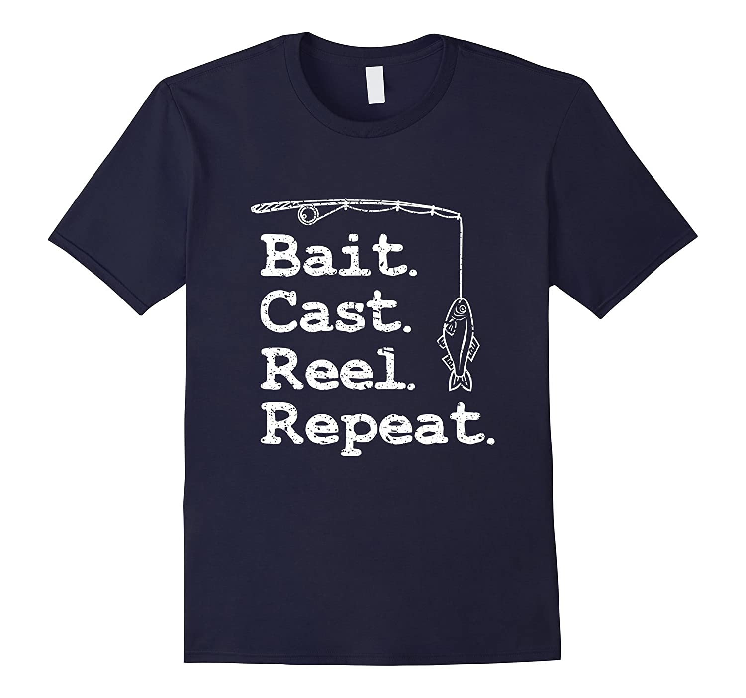 Bait Cast Reel Repeat Fishing T-Shirt-TH
